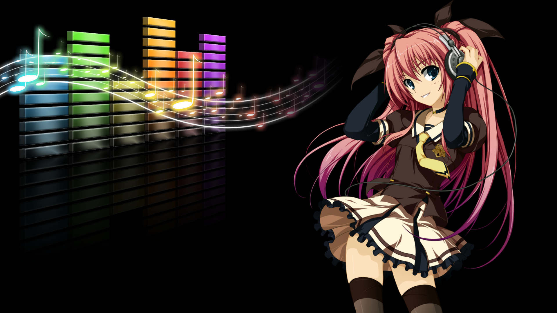 music girl wallpapers headphones - photo #27